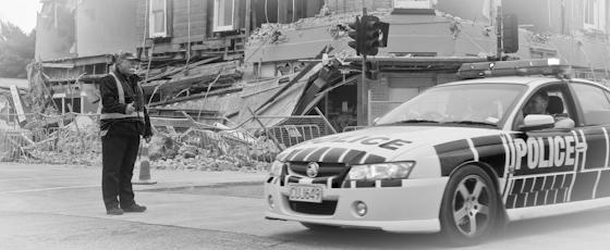 Police earthquake photo